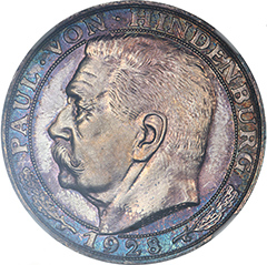 1928 Germany Hindenburg Medal,  NGC PF65
