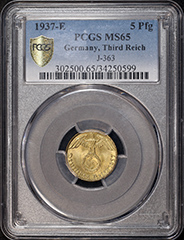 1937 E Germany 5 Pfg  MS65