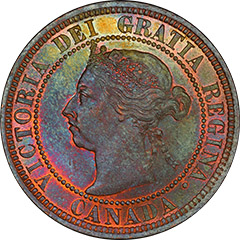1890-H One Cent MS63 RB