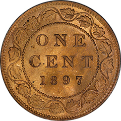 1897 One Cent MS64 Red
