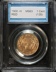 1900 -H One Cent MS63 RD